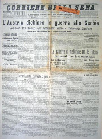 LO SCOPPIO DELLA PRIMA GUERRA MONDIALE. EVENTI POLITICI NEL 1914 (3/6)