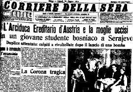 LO SCOPPIO DELLA PRIMA GUERRA MONDIALE. EVENTI POLITICI NEL 1914 (2/6)