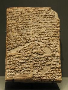 Prologo del Codice di Hammurabi, tabella di argilla, 1780 A.C., Museo Louvre, Parigi, Francia.