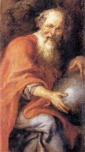 Democrito, olio su tela, Peter Paul Rubens, Museo del Prado, Madrid, Spagna