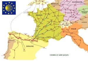 Cammini europei per Santiago di Compostela