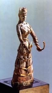 Dea dei Serpenti, Egeo, Creta, 1600 a.C.