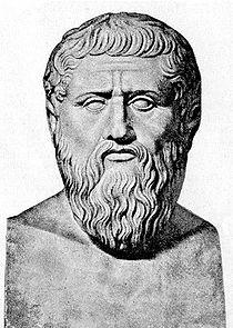 Il busto di Platone( 427-347 a.C. circa), il filosofo che rilevò l'assoluta mancanza di valori etici della mitologia greca.