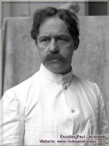 Lo scultore Paul Landowski, foto del 1913