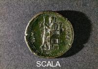 Moneta romana raffigurante Zeus,Firenze,Museo Archeologico