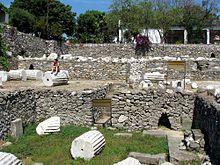 Le attuali rovine del mausoleo