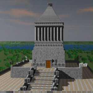 Ricostruzione computerizzata del monumento in base alle descrizioni dei autori classici