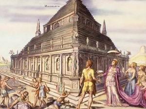Mausoleo di Alicarnasso, ricostruzione ipotetica, XVI secolo