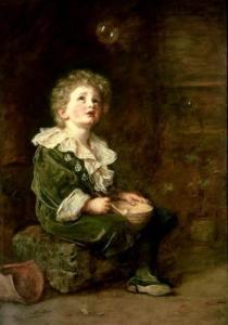 nel 1860 il dipinto di Sir John Everett Millais, Bolle, fu usato come manifesto pubblicitario per un tipo di sapone, e ciò scandalizzò i critici d'arte. Oggi, i manifesti pubblicitari sono spesso opera di artisti specializzati.