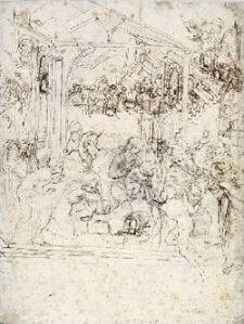 Studio per l'Adorazione dei Magi, Cabinet des Dessins