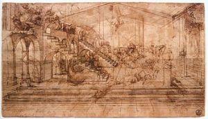 Studio per lo sfondo dell'Adorazione dei Magi, Gabinetto dei Disegni e delle Stampe