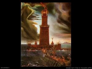 Il Faro di Alessandria, il quadro di Salvador Dalì