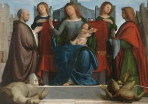 Ambrosiana-Bramantino-Madonna-con-Bambino-i-Santi-Ambrogio-e-Michele-300x210